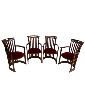 Lot of 4 Armchairs Gender...