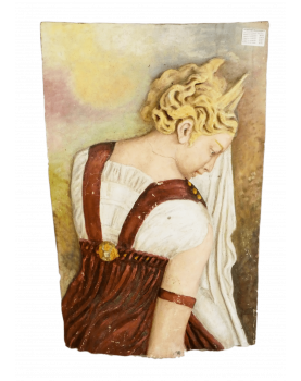 Medieval Woman Decor in Resin