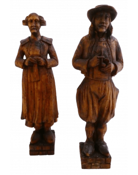 Couple Of Carved Wood...