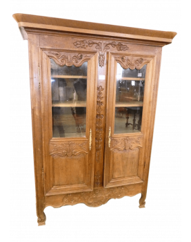 Carved display case with key
