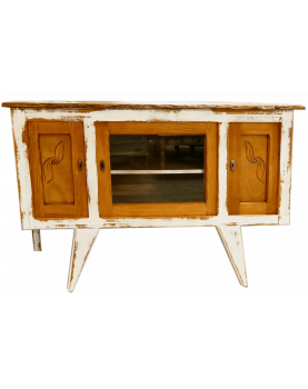 Two-tone sideboard with key