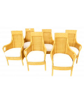 6 Rattan Armchair with...