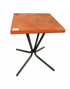 Red Tray Bistro Table