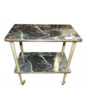 TABLE A ROULETTE FAUX MARBRE