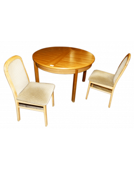 Round Table Set and 4 Beige...