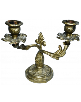 Brass 2 Light Candlestick