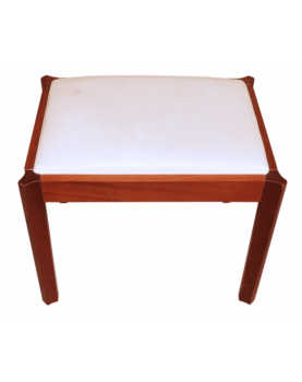 Stool with White Seat