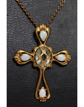 Cross and Chain in 18K Gold...