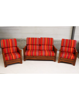 Sofa Set with 2 Armchairs...