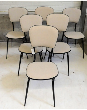 Lot of 6 Chairs 1960 Relooked